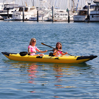 The Inflatable Clear Bottom Kayak