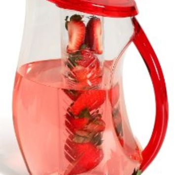 Fruit Infusion Pitcher 3.25 Quart By Decodyne Red