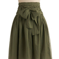 In Tandem Skirt in Olive | Mod Retro Vintage Skirts | ModCloth.com