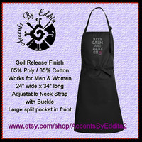 Rhinestone Chefs Apron Keep Calm and Bake On with Cute Cupcake Great for Bakers and Cooks