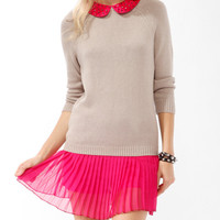 Studded Collar Sweater