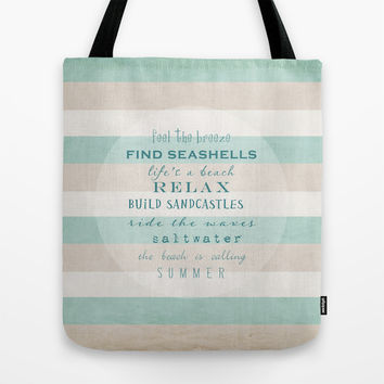 build sandcastles Tote Bag by Sylvia Cook Photography