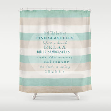build sandcastles Shower Curtain by Sylvia Cook Photography
