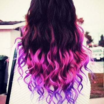 EXTREME OMBRE // Pink and Purple // clip in extensions // AAA grade