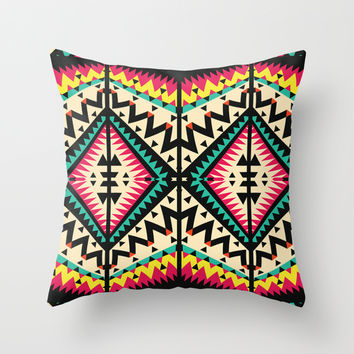 Tribal Throw Pillow by Ornaart