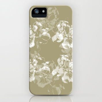 Neutral Floral iPhone & iPod Case by Anchor Eight