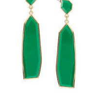 ASOS | ASOS Deco Drop Earrings Irregular Stone Set Bright at ASOS