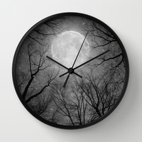 May It Be A Light (Dark Forest Moon) Wall Clock by Soaring Anchor Designs ⚓