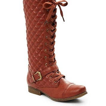 Quilted Combat Boot