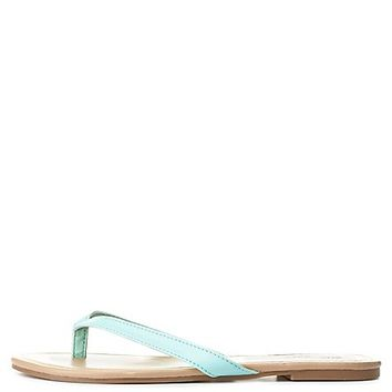 Essential Thong Sandals by Charlotte Russe - Light Mint