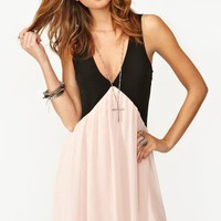 Chiffon Trapeze Dress