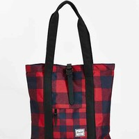 Herschel Supply Co. Buffalo Plaid Market Tote Bag- Red One
