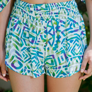 Teal Appeal Flowy Shorts – Gold Soul