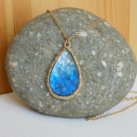 Ombre Dream Catcher Druzy Necklace [3210] - $21.00 : Vintage Inspired Clothing & Affordable Summer Dresses, deloom | Modern. Vintage. Crafted.