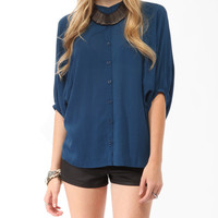 Buttoned Dolman Top