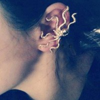 Octopus Fashion Single Ear Cuff  | LilyFair Jewelry