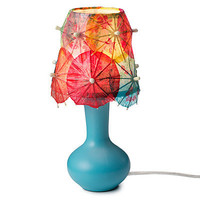 DRINK UMBRELLA LAMP | Table Light, Tropical Lighting, Tiki Décor, Fun Home Accent, Cocktail Umbrella | UncommonGoods