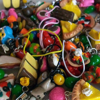 "As Is ""mystery bag"" Clearance Sale - Handmade Tiny Food Miniature Charm"