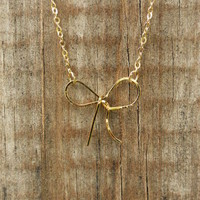 Forget Me Knot Necklace [2983] - $14.00 : Vintage Inspired Clothing & Affordable Summer Dresses, deloom | Modern. Vintage. Crafted.