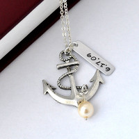 Customized Anchor Necklace