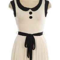 Vintage Anthropologie Inspired White &amp; Black Mod 60&#x27;s Fabulo