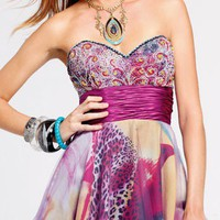Faviana Strapless Dress 6810 - $298