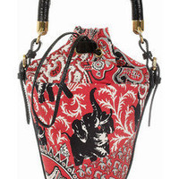 MIU MIU Printed cotton-canvas mini bucket bag