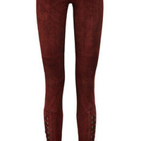 ISABEL MARANT Eden stretch-suede skinny pants