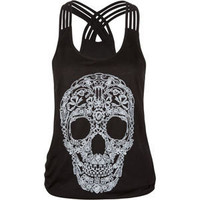 FULL TILT Quadruple Skull Womens Tank 203405100 | Graphic Tees &amp; Tanks | Tillys.com