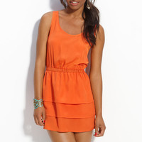Chloe K Tiered Tank Dress