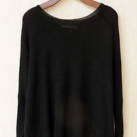 In The Mood For Fall Sweater, Black