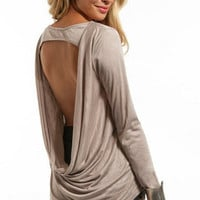 Lila Drape Front Top $25