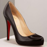 Christian Louboutin Rolando hidden-platform black pumps