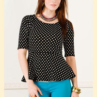 Spotty Spot Peplum Top