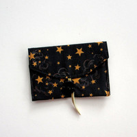 Business Card Case, Fabric Wallet, Stars