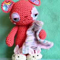 Twist the Omnipom. Crochet amigurumi collectable doll.