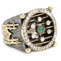 BORA Ruby and Emerald Ottoman Ring, Size 7 - designer shoes, handbags, jewelry, watches, and fashion accessories | endless.com