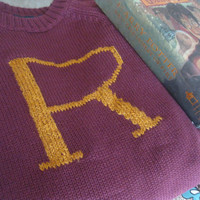 The Weasley Sweater - RESERVED FOR AUBREE - Gryffindor Colors with R Embroidery