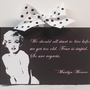 "Marilyn Monroe Quote "" We Should All Start To Live"" Wood Wall Plaque"