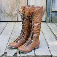 Upper County Boots in Oak, Sweet Bohemian Boots