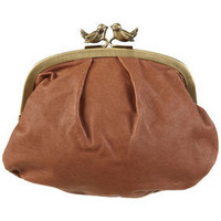 Tan Leather Bird Clasp Purse - New In This Week - New In - Topshop