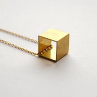 Vintage Cube Necklace