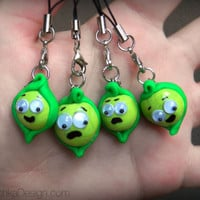 Pea in a Pod Pendant Charm with Phone Strap