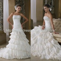 layered skirt custom made wedding dress bridal dress wedding gown