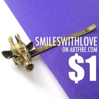 ONE DOLLAR SALE - Giraffe Animal Hair Bobby Pin Clip Accessory