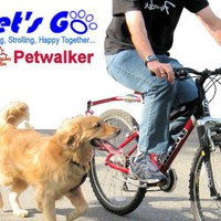 Lets Go Pet Walker, Hands Free Bicycle Dog Leash for Medium / Large Dog. 4 Colors, Gold, Purple,...