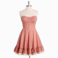 jessamine floral bustier dress - $42.99 : ShopRuche.com, Vintage Inspired Clothing, Affordable Clothes, Eco friendly Fashion