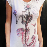 WOMENS T-Shirt, Mermaid, S/M/L