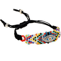 GYPSY WARRIOR - Beaded Evil Eye Bracelet