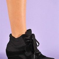 Baller Wedge Sneaker - Black at Necessary Clothing